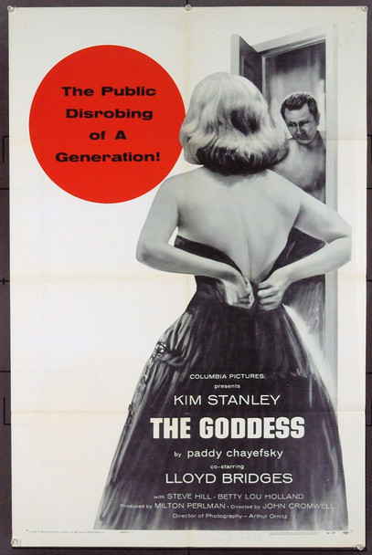 GODDESS, THE (1958) 20842 Original Columbia Pictures One Sheet (27x41). Folded.  Very Fine Plus.