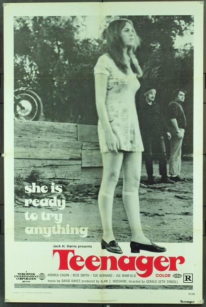 TEENAGER (1974) 20854 Original Jack H. Enterprises One Sheet Poster (27x41). Folded. Very good.