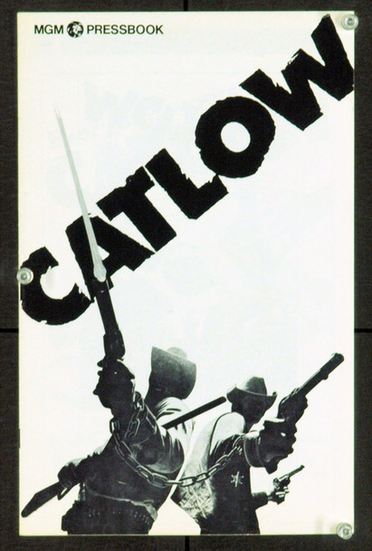 CATLOW (1971) 20922 Pressbook. Near Mint.