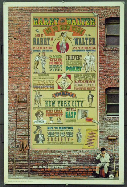 HARRY AND WALTER GO TO NEW YORK (1976) 20963 Original Columbia Pictures One Sheet Poster (27x41). Drew Struzan Artwork.  Folded.  Very Fine Condition.