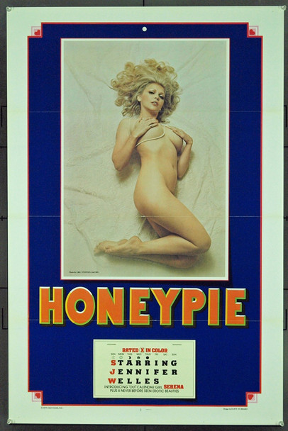 HONEY PIE (1976) 20964 Original DED Films One Sheet Poster (27x41). Folded. Very Fine.