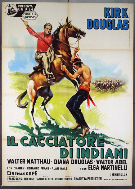 INDIAN FIGHTER, THE (1955) 20988 Original Italian Poster (39x55). Very Fine Plus Condition.