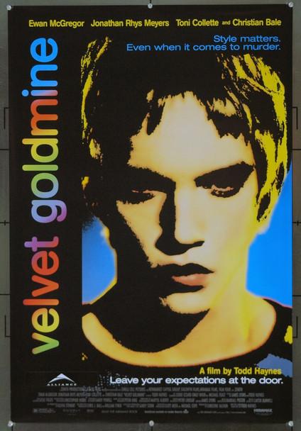 VELVET GOLDMINE (1998) 21017 Original Miramax One Sheet Poster 27x41). Unfolded. Near Mint Condition.