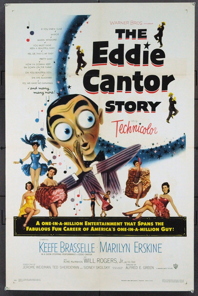 EDDIE CANTOR STORY, THE (1953) 21021 Original Warner Brothers One Sheet Poster (27x41). Folded. Very Fine.
