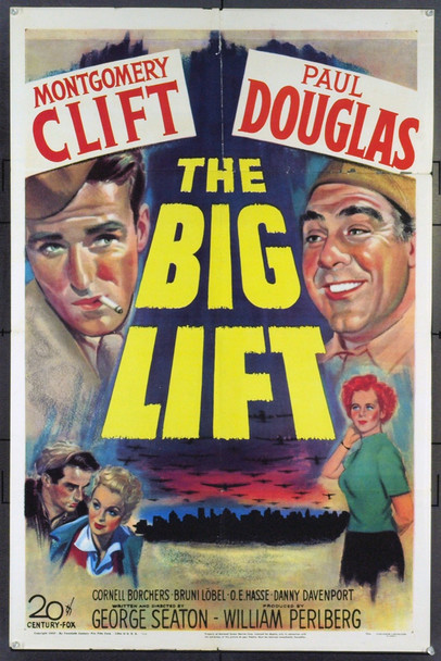 BIG LIFT, THE (1950) 21090 Original 20th Century-Fox One Sheet Poster (27x41). Folded. Fine Plus.