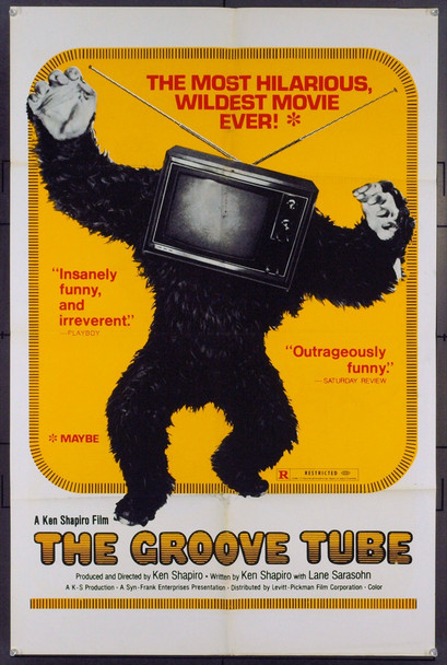 GROOVE TUBE, THE (1972) 21111 Original Levitt-Pickman One Sheet Poster (27x41).  Folded.  Fine Plus Condition.
