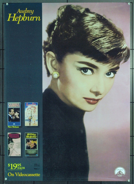 AUDREY HEPBURN () 21195 Original Paramount Home Video Promotional poster. 26 x 37. Rolled. Very Fine. 1990.