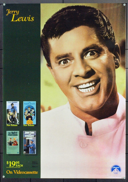 JERRY LEWIS () 21196 Original Paramount Home Video Promotional Poster. Unfolded.