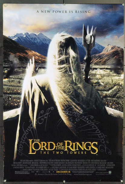 LOTR: THE TWO TOWERS (2002) 21197 Original New Line Cinema One Sheet Poster (27x40). Double-Sided. Unfolded. Fine Plus.