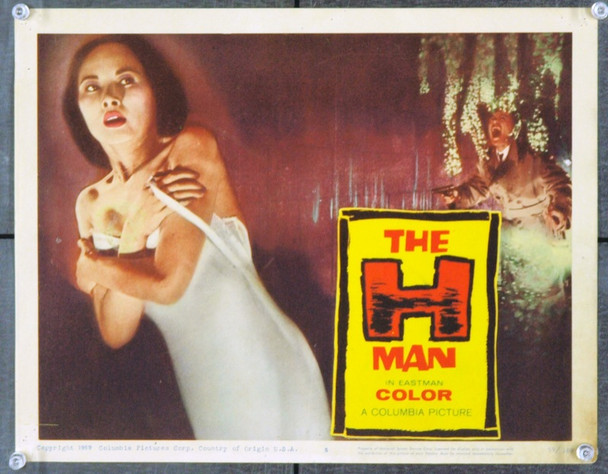 H-MAN, THE (1958) 21282 Two Original Columbia Pictures Scene Lobby Cards (11x14). Good Condition.