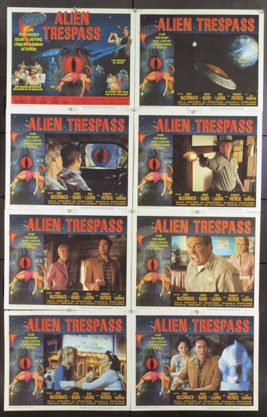 ALIEN TRESPASS (2009) 21283 Original Roadside Attractions Complete Set of Eight Lobby Cards (11x14). Near Mint.