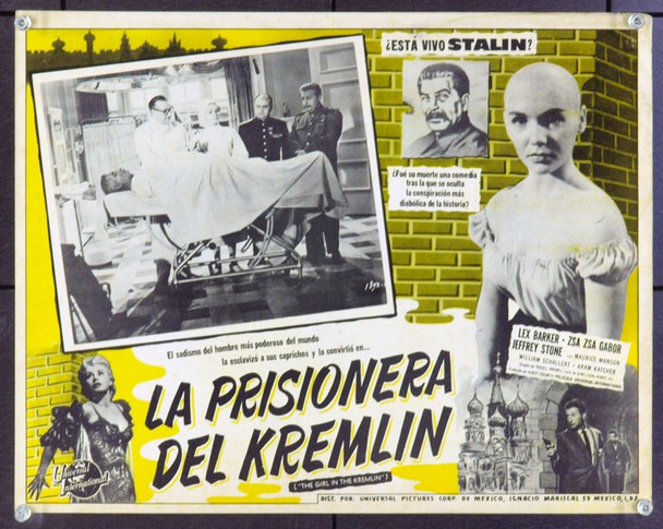 GIRL IN THE KREMLIN, THE (1957) 21293 Original Universal Pictures Mexican Scene Lobby Card (13x17). Very Good.