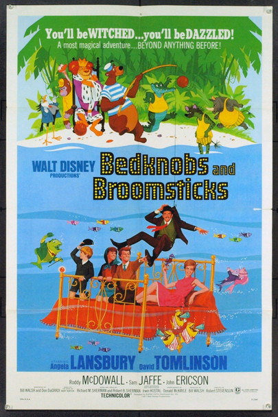 BEDKNOBS AND BROOMSTICKS (1971) 21352 Original Walt Disney One Sheet Poster (27x41). Folded. Very Fine.