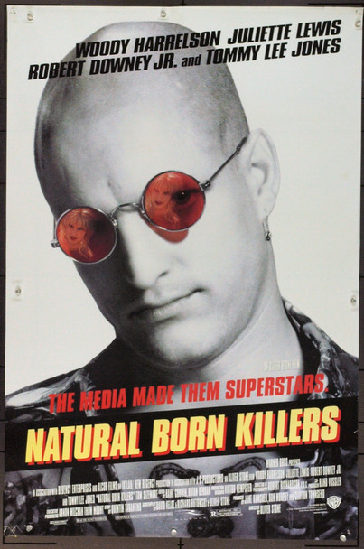 NATURAL BORN KILLERS (1994) 21697 Original Warner Brothers One Sheet Poster (27x41).  Rolled.  Very Fine.