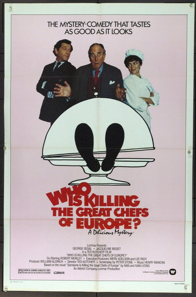 WHO IS KILLING THE GREAT CHEFS OF EUROPE? (1978) 21766 Original Warner Brothers One Sheet Poster (27x41).  Folded.  Very Fine.