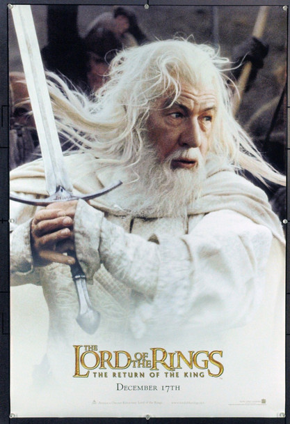 LOTR: THE TWO TOWERS (2002) 20745 Original New Line Cinema Style B Advance One Sheet Poster of Ian McKellen (27x40). Double-Sided. Rolled. Very Fine.