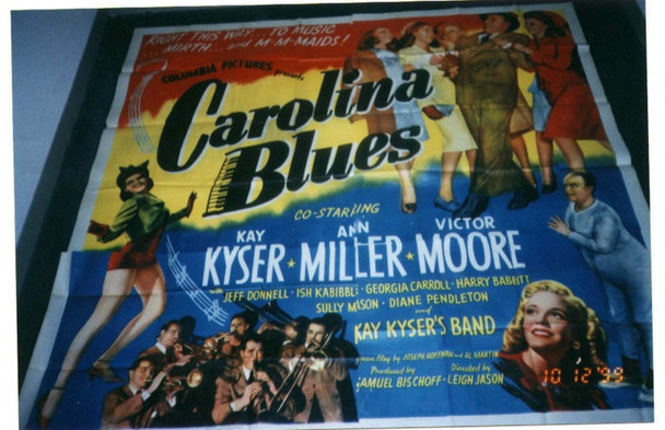 CAROLINA BLUES (1944) 12745 Columbia Pictures Original U.S. Six Sheet Poster (81x81)  Unbacked.  Very Good Plus to Fine Condition