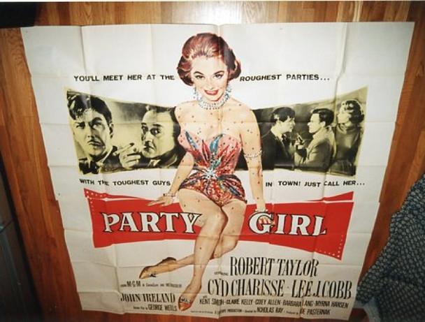 PARTY GIRL (1958) 7614 Original Six Sheet Poster.  Unmounted.  Fine Plus.  81x81.