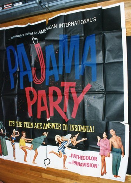 PAJAMA PARTY (1964) 17535 Original American International Pictures Six Sheet Poter (81x81).  Unmounted.  Fine Condition.