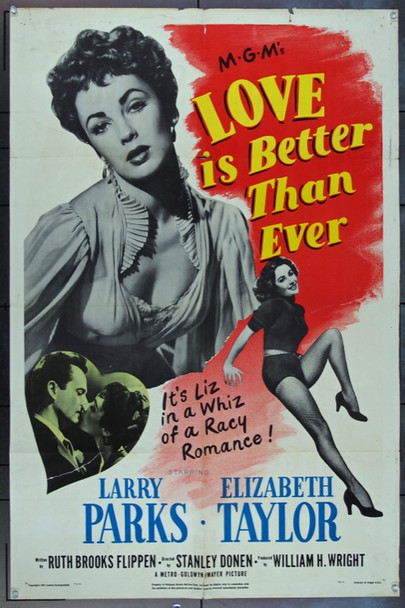 LOVE IS BETTER THAN EVER (1952) 2916 Original MGM One Sheet Poster (27x41).  Folded.  Fine Plus.