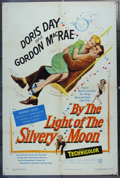 BY THE LIGHT OF THE SILVERY MOON (1953) 2131 Original Warner Brothers One Sheet Poster (27x41).  Folded.  Fine Condition.