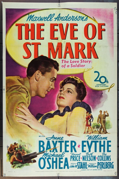 EVE OF ST. MARK, THE (1944) 13832 Original 20th Century-Fox One Sheet Poster (27x41).  Folded.  Very Good.
