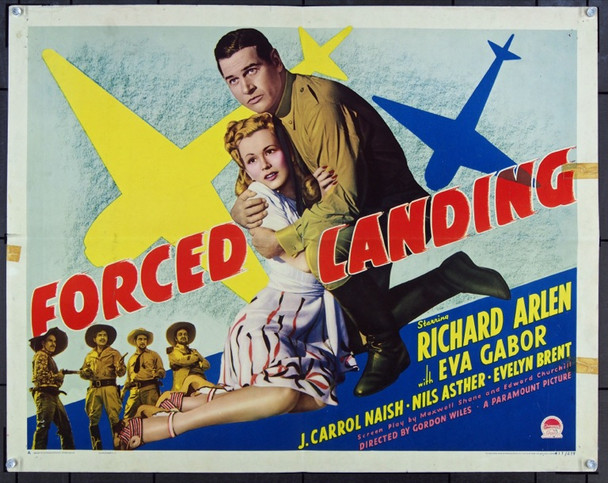 FORCED LANDING (1941) 13881 Original Paramount Pictures Style A Half Sheet Poster (22x28).  Folded.  Very Good.