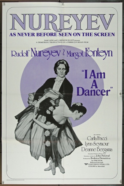 I AM A DANCER (1972) 13883 Original Cinevision Films One Sheet Poster (27x41).  Folded.  Very Fine.
