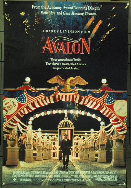AVALON (1990) 3929 Original TriStar One Sheet Poster (27x41).  Folded.  Very Fine.