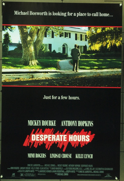 DESPERATE HOURS (1990) 3918 Original MGM One Sheet Poster (27x41).  Unfolded.  Very Fine.