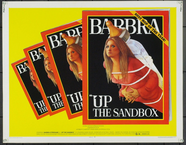 UP THE SANDBOX (1973) 869 Original National General Pictures Half Sheet Poster (22x28). Art By Richard Amsel. Unfolded. Very Fine Plus.
