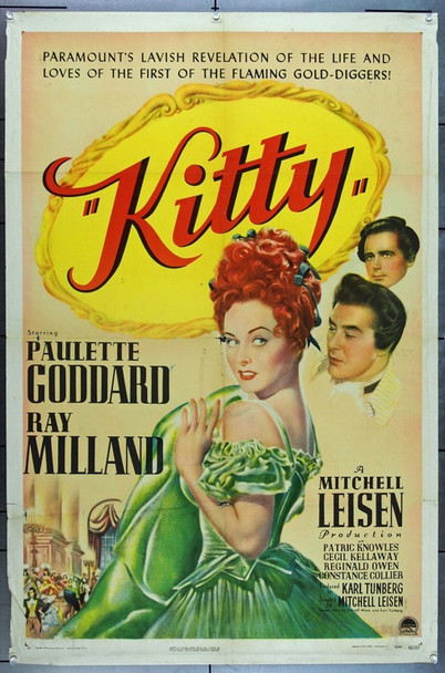 KITTY (1945) 7984 Original Paramount Pictures One Sheet Poster (27x41).  Folded.  Fine Plus.