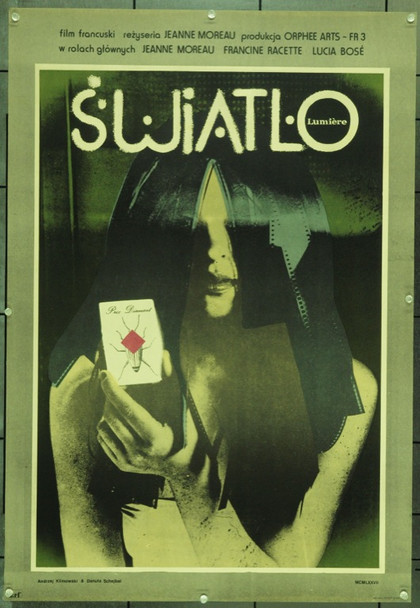 LUMIERE (1976) 22134 Original Polish Poster (23x33).  Andrej Klimowski Artwork.  Rolled.  Very Fine.