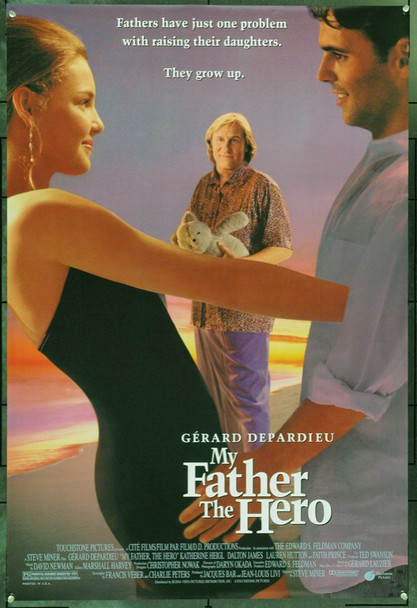 MY FATHER THE HERO (1994) 22154 Original Touchstone Pictures One Sheet Poster (27x41).  Double-Sided.  Rolled.  Very Fine.