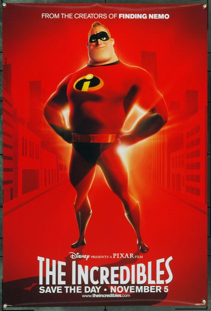 INCREDIBLES, THE (2004) 22152 Original Buena Vista Pictures Style A Advance One Sheet Poster (27x41).  Double-Sided.  Rolled.  Very Fine.
