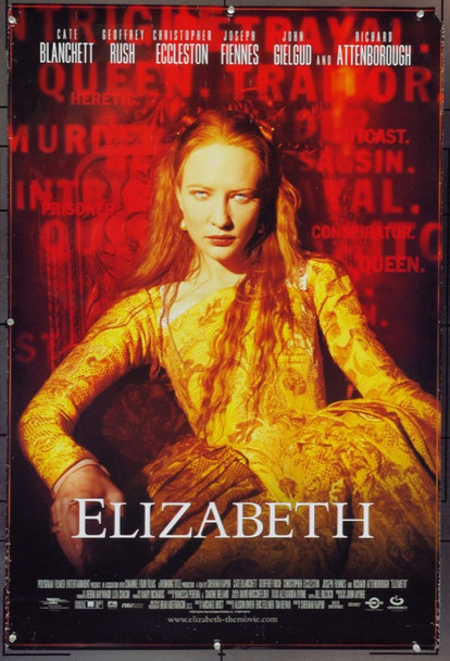 ELIZABETH (1998) 12734 Original Gramercy Pictures One Sheet Poster (27x40).  Rolled.  Very Fine Condition.
