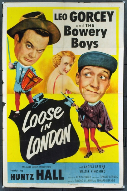 LOOSE IN LONDON (1953) 708 Original Allied Artists One Sheet Poster (27x41). Good condition.