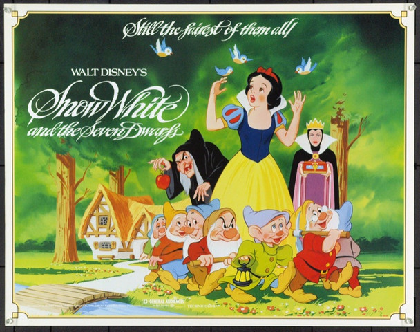 SNOW WHITE AND THE SEVEN DWARFS (1937) 859 Original Walt Disney Productions 1983 Re-Release Half Sheet Poster (22x28). Unfolded. Very Fine Plus.