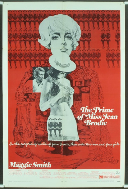 PRIME OF MISS JEAN BRODIE, THE (1969) 1105 Original 20th Century Fox One Sheet Poster (27x41).  Very Fine Condition.