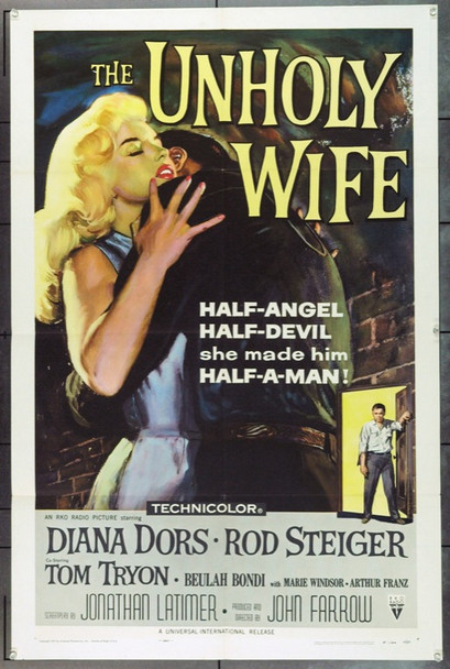 UNHOLY WIFE, THE (1957) 1125 Original RKO One Sheet Poster (27x41). Folded. Very Fine Plus.