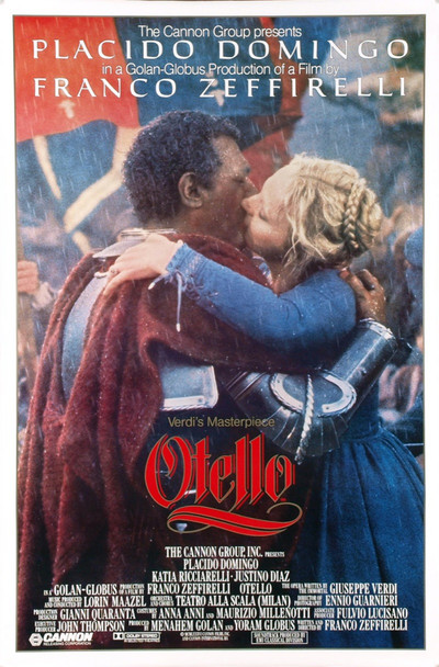 OTELLO (1986) 1684 Original Cannon Film Distributors One Sheet Poster (27x41).  Rolled.  Fine plus condition.