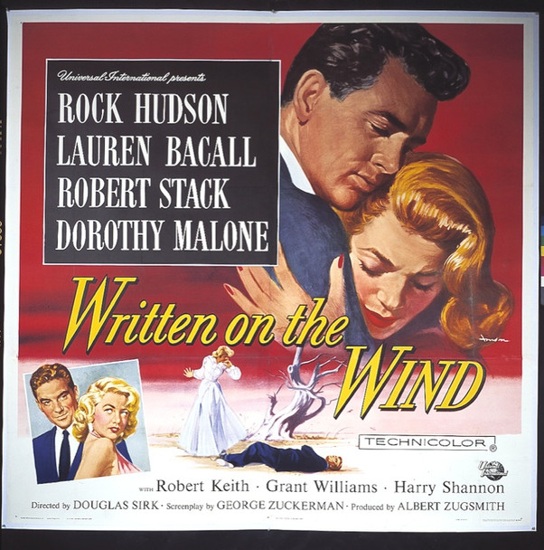 WRITTEN ON THE WIND (1956) 13800 UNIVERSAL-INTERNATIONAL Original six sheet Poster.  81x81.  Very Fine condition.  On linen.