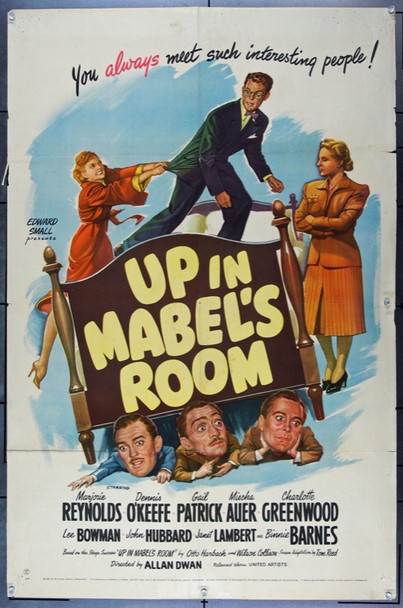 UP IN MABEL'S ROOM (1944) 9348 Original United Artists One Sheet Poster (27x41).  Folded.  Very Good.