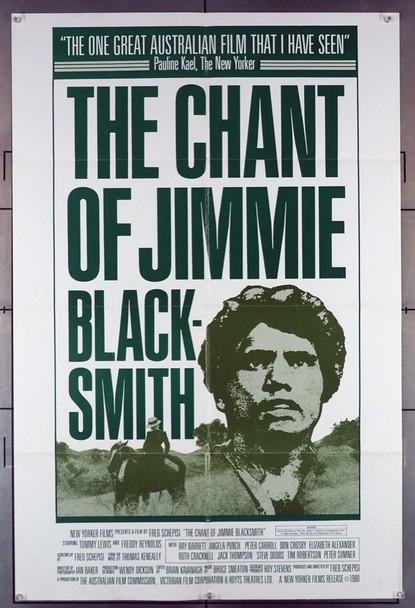 CHANT OF JIMMIE BLACKSMITH, THE (1978) 1939 Original New Yorker Films One Sheet Poster (27x41). Folded. Very Fine Condition.