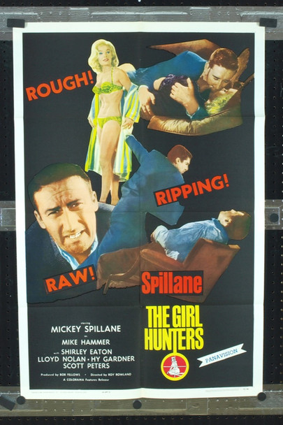 GIRL HUNTERS, THE (1963) 2274 Original Colorama Features One Sheet Poster (27x41). Folded. Near Mint Condition.