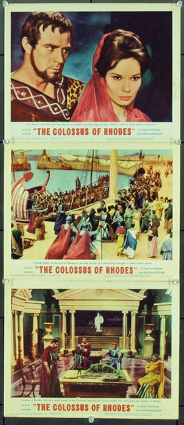 COLOSSUS OF RHODES, THE (1961) 2472 Original MGM Lobby Cards (11x14). Very Fine Condition.
