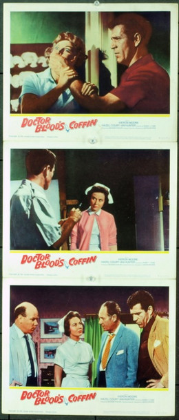 DOCTOR BLOOD'S COFFIN (1961) 2476 Original United Artists Lobby Cards (11x14). Very Fine Plus Condition.<br /><br />&nbsp;