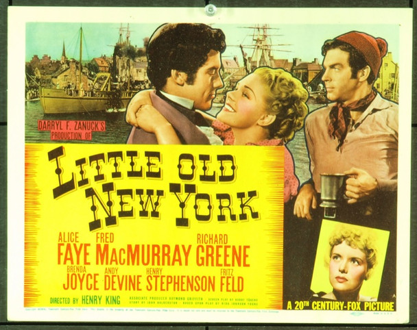 LITTLE OLD NEW YORK (1940) 2481 Original 20th Century Fox Title Lobby Card (11x14). Very fine condition.