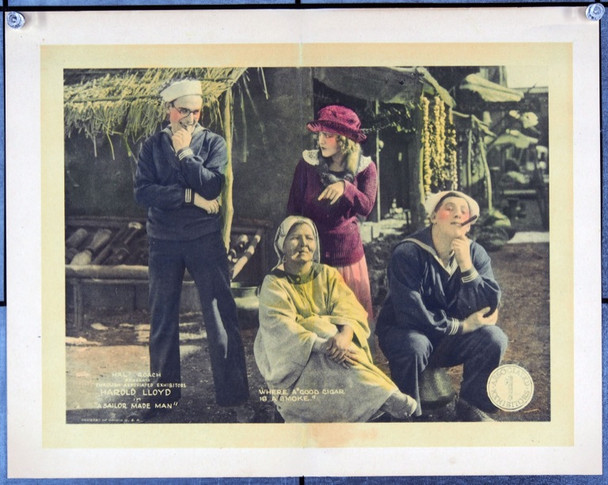 SAILOR MADE MAN, A (1921) 2535 Original Associated Exhibitors Scene Lobby Card (11x14). Restored to Very Fine.