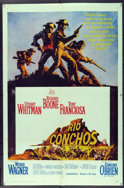 RIO CONCHOS (1964) 2953 20th Century Fox Original One-Sheet Poster (27x41)  Average Used Condition